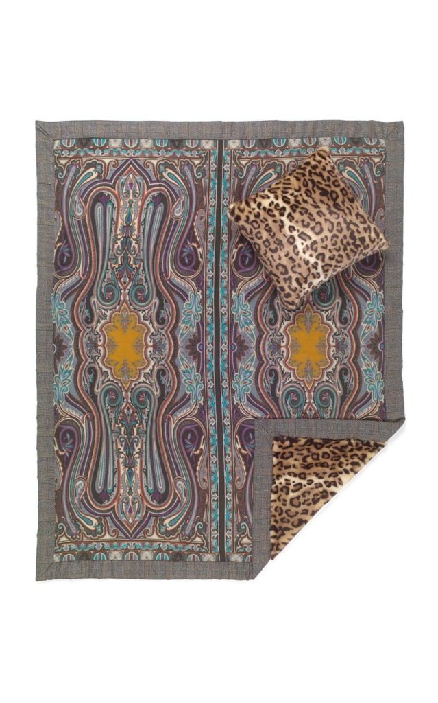 Etro Dartmoor Set-Of-Two Velvet Throw And Cushion $2,210