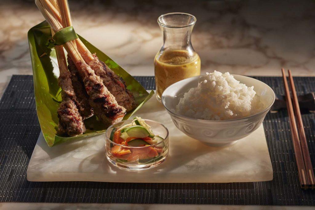 Mandarin Oriental-canouan-fine-dining-asianne-food-satay-George Apostolidis