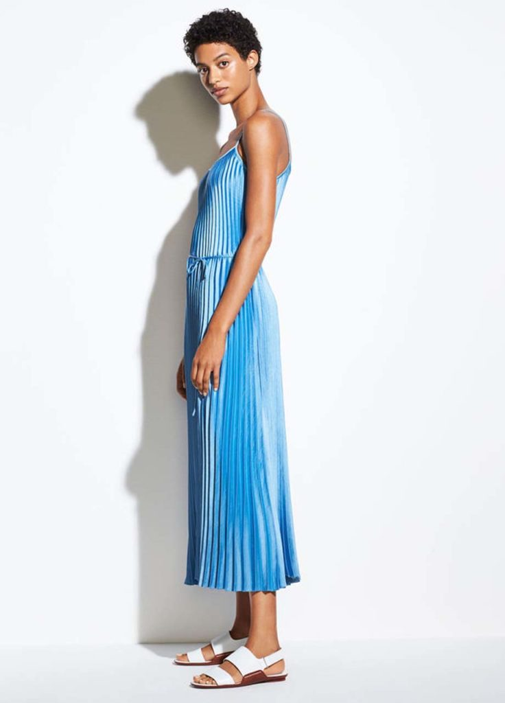 vince - pleated cami dress_1