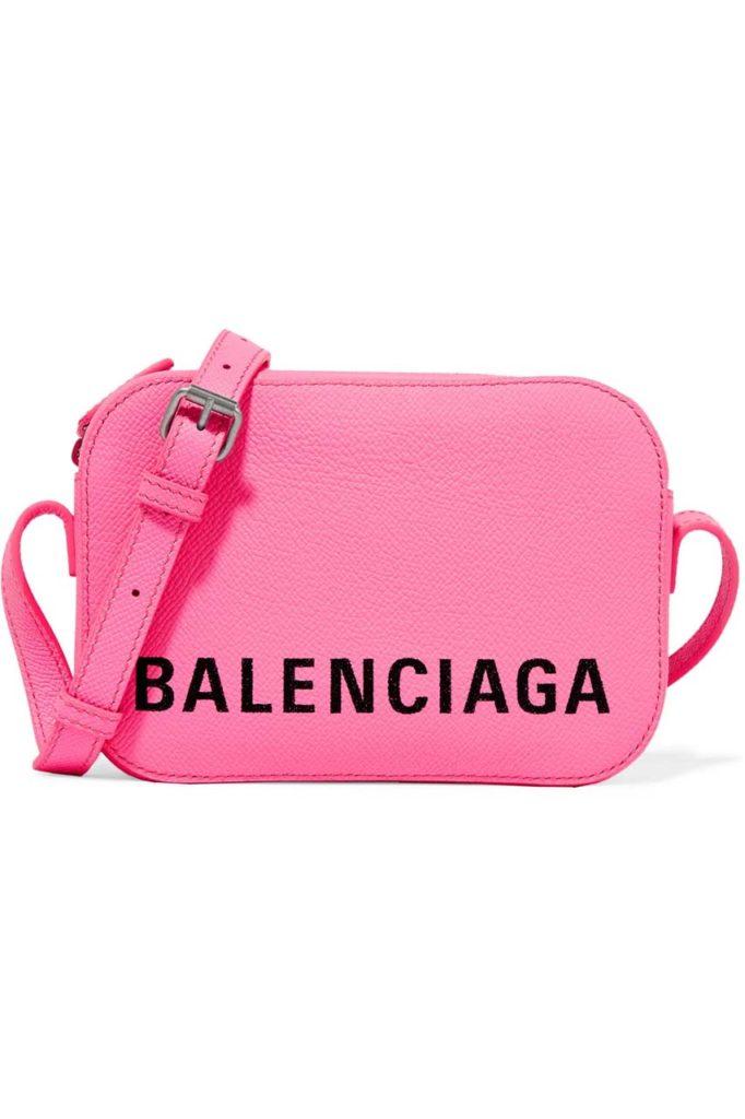 Balenciaga Ville XS Aj Printed Textured-Leather Shoulder Bag