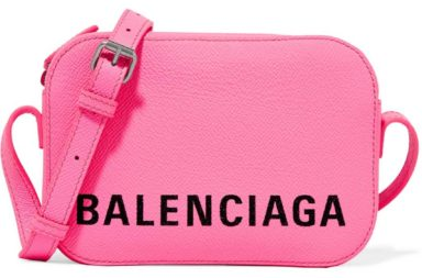 Balenciaga Ville XS Aj Printed Textured-Leather Shoulder Bag
