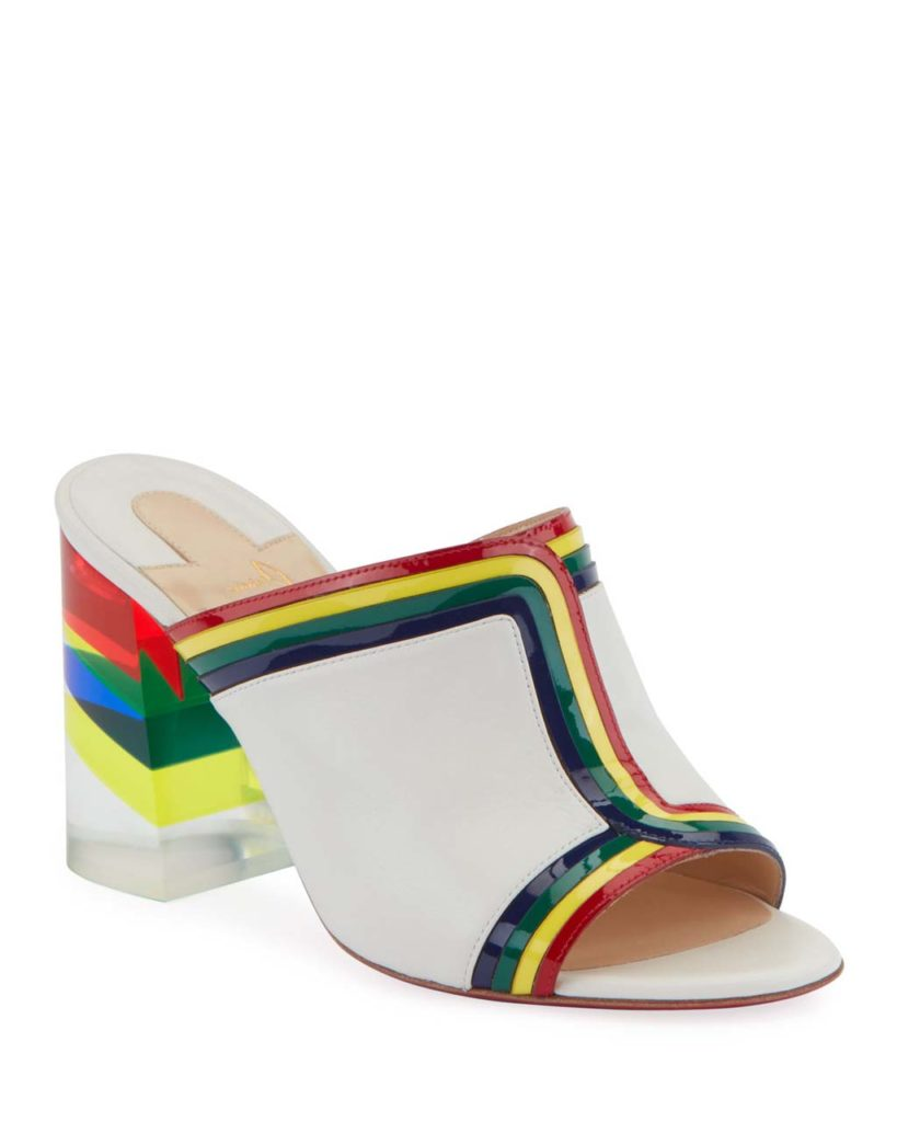 Christian Louboutin Ranimule 85 Plexi-Heel Red Sole Slide Sandals