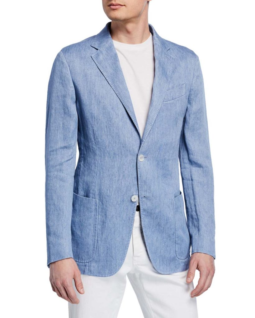 Ermenegildo Zegna Men's Linen Two-Button Jacket