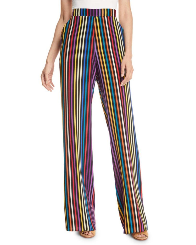 Etro Rainbow Stripe Silk Pants