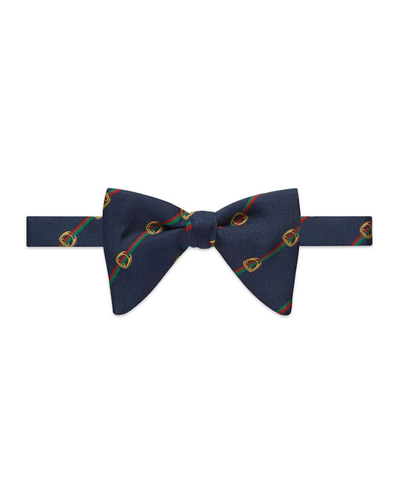 Gucci Buckle-Motif Silk Bow Tie_1