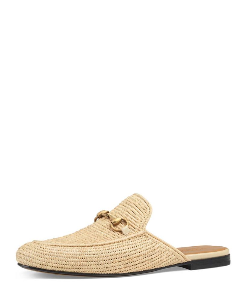 Gucci Straw Princetown Slipper