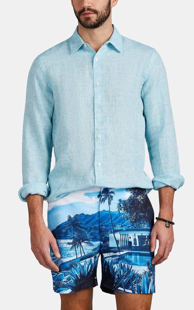 Orlebar Brown Morton Slub Linen Shirt