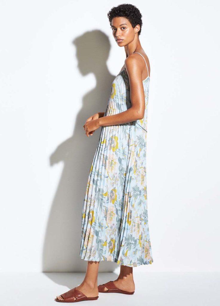 Vince - Marine Garden Pleated Cami Dress_1