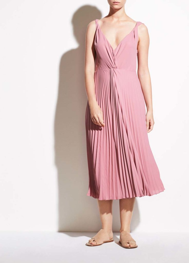 Vince - Pleated Twist Front Dress