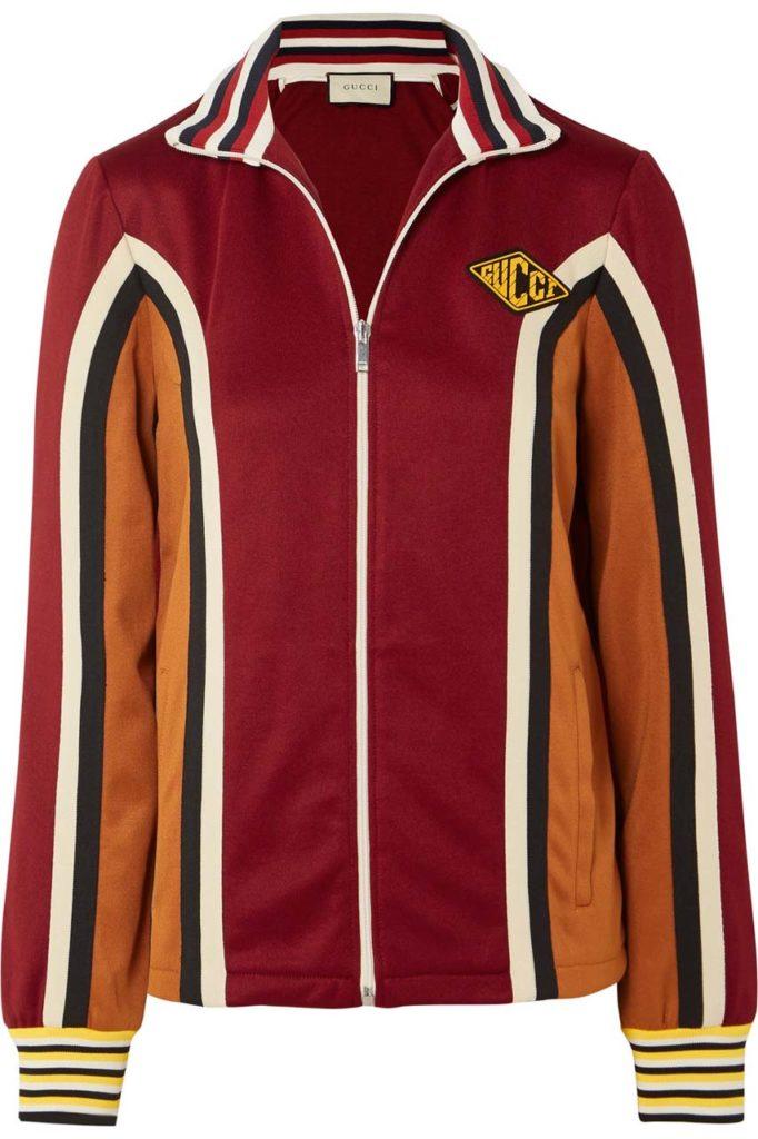 Gucci Striped Stretch-Jersey Track Jacket_1