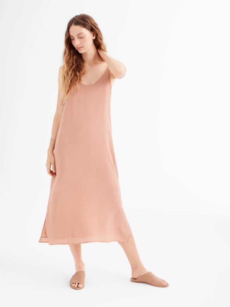 Sandwashed Tensel Dress - Eileen Fisher