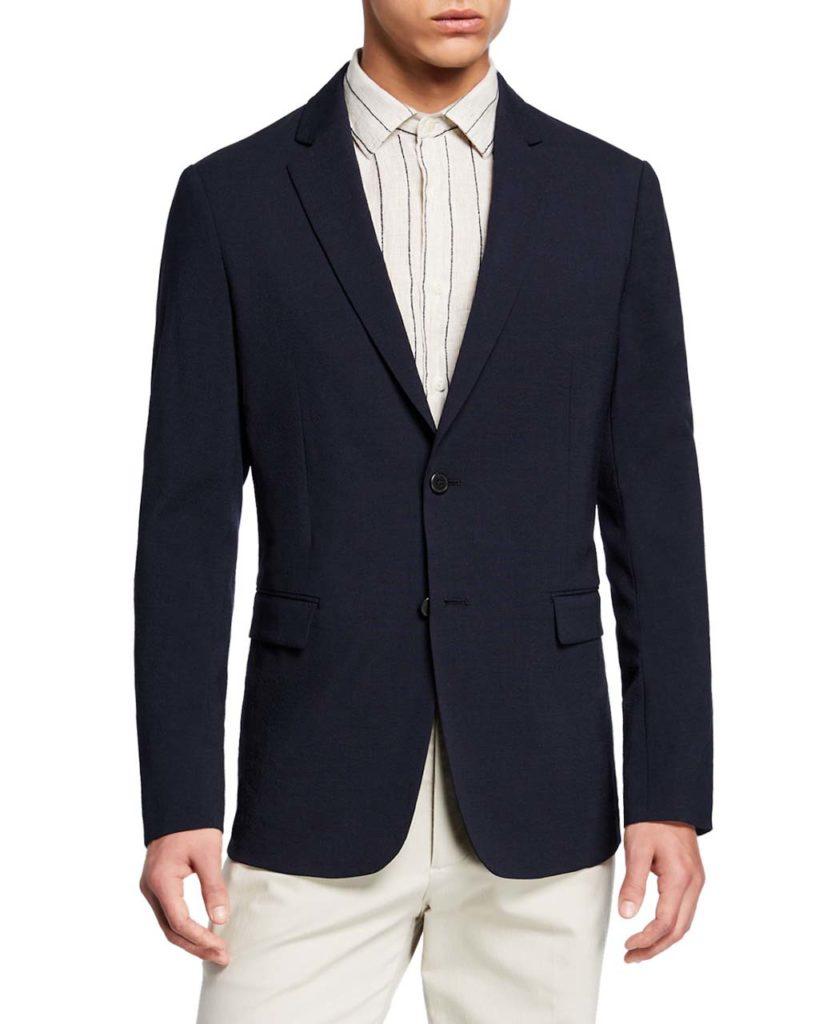 Theory Men's Clinton Seersucker Two-Button Jacket