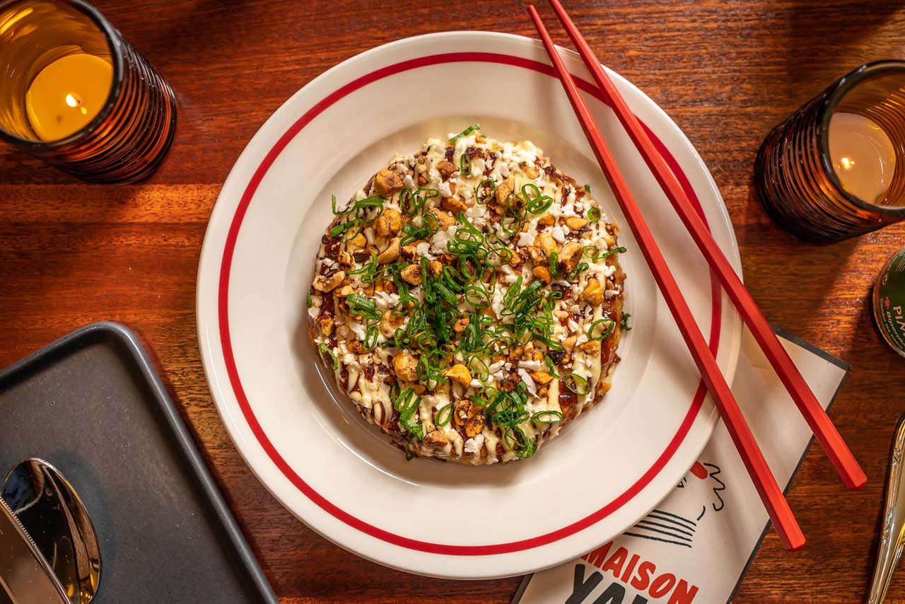 Best New Fusion-Cauliflower Okonomiyaki & Hazelnuts - Maison Yaki (4)