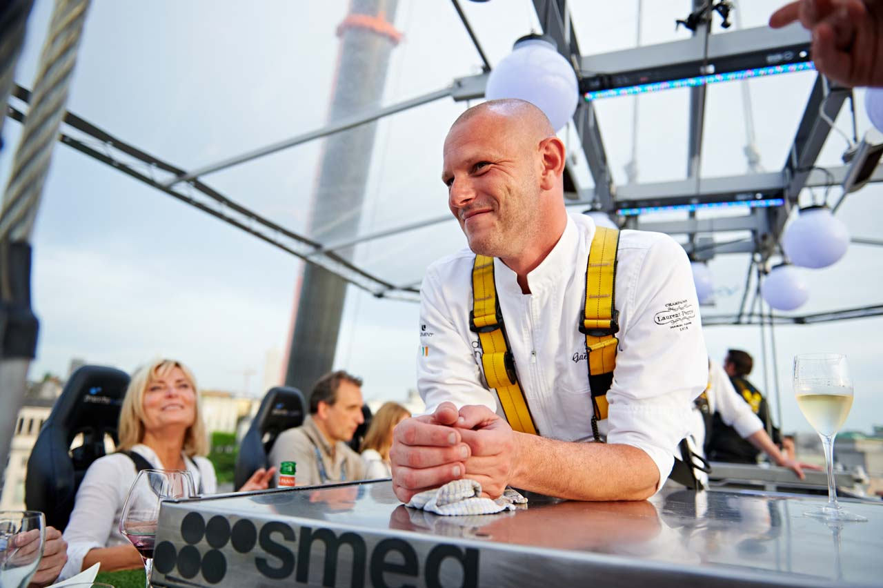 Dinner in the Sky1-Chef Gaetan-Colin-Belgium