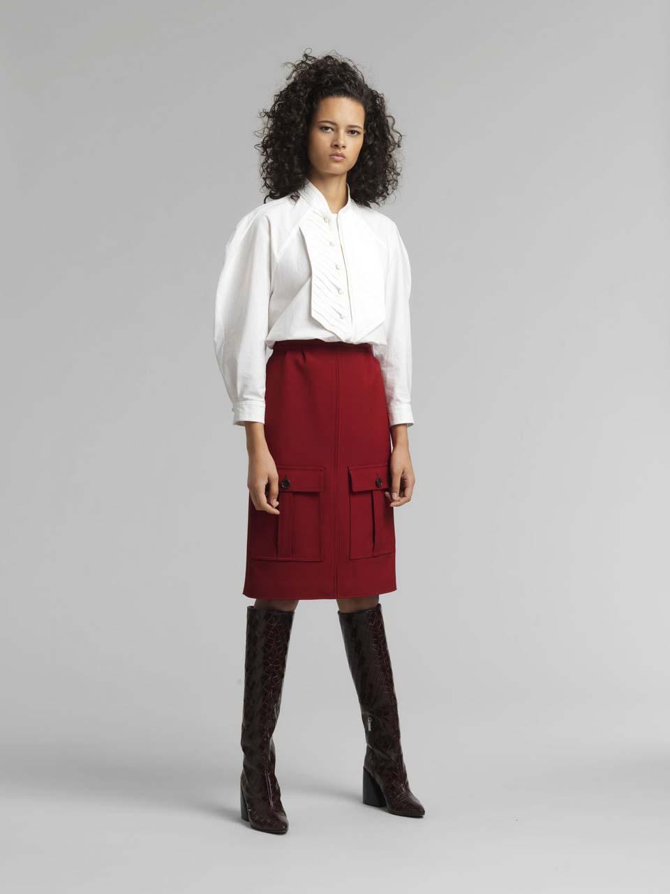 chloe red skirt