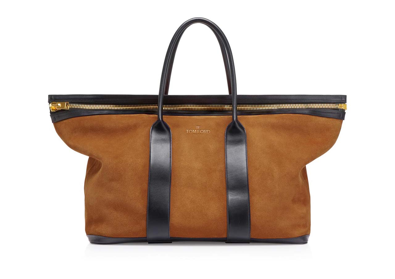 tom ford suede buckley tote