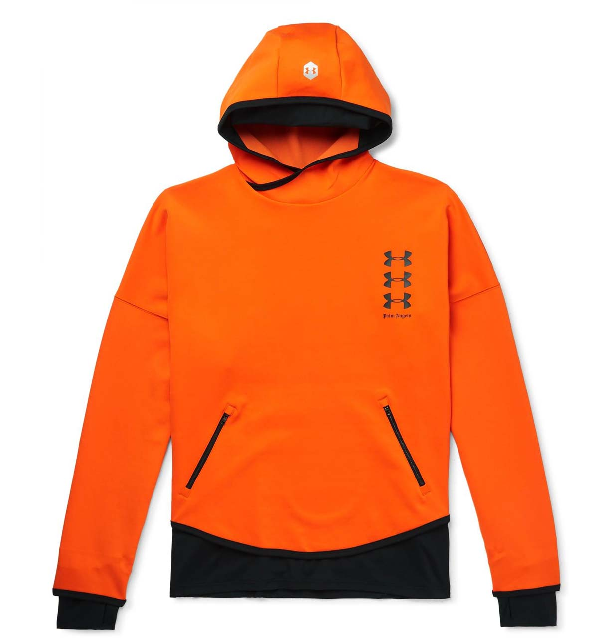 palm-angels-orange-Under-Armour-Oversized-Logo-print-Neoprene-Hoodie_1