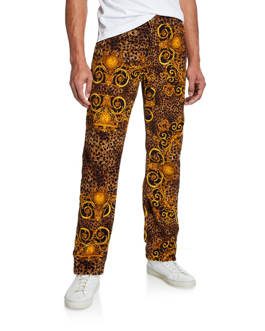Versace Jeans Couture Men's Leo Baroque Velvet Jeans_1