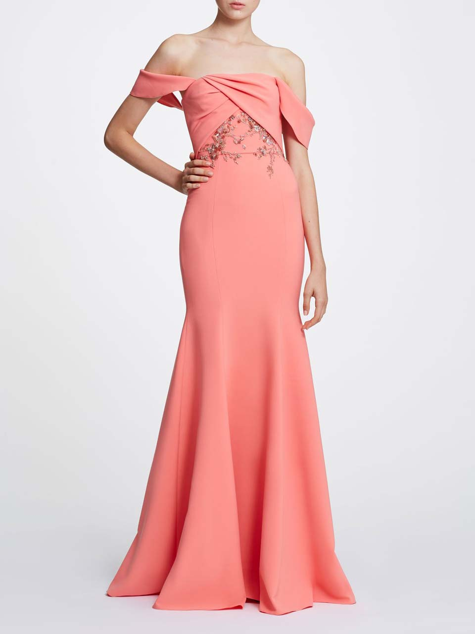 coral gown marchesa_1